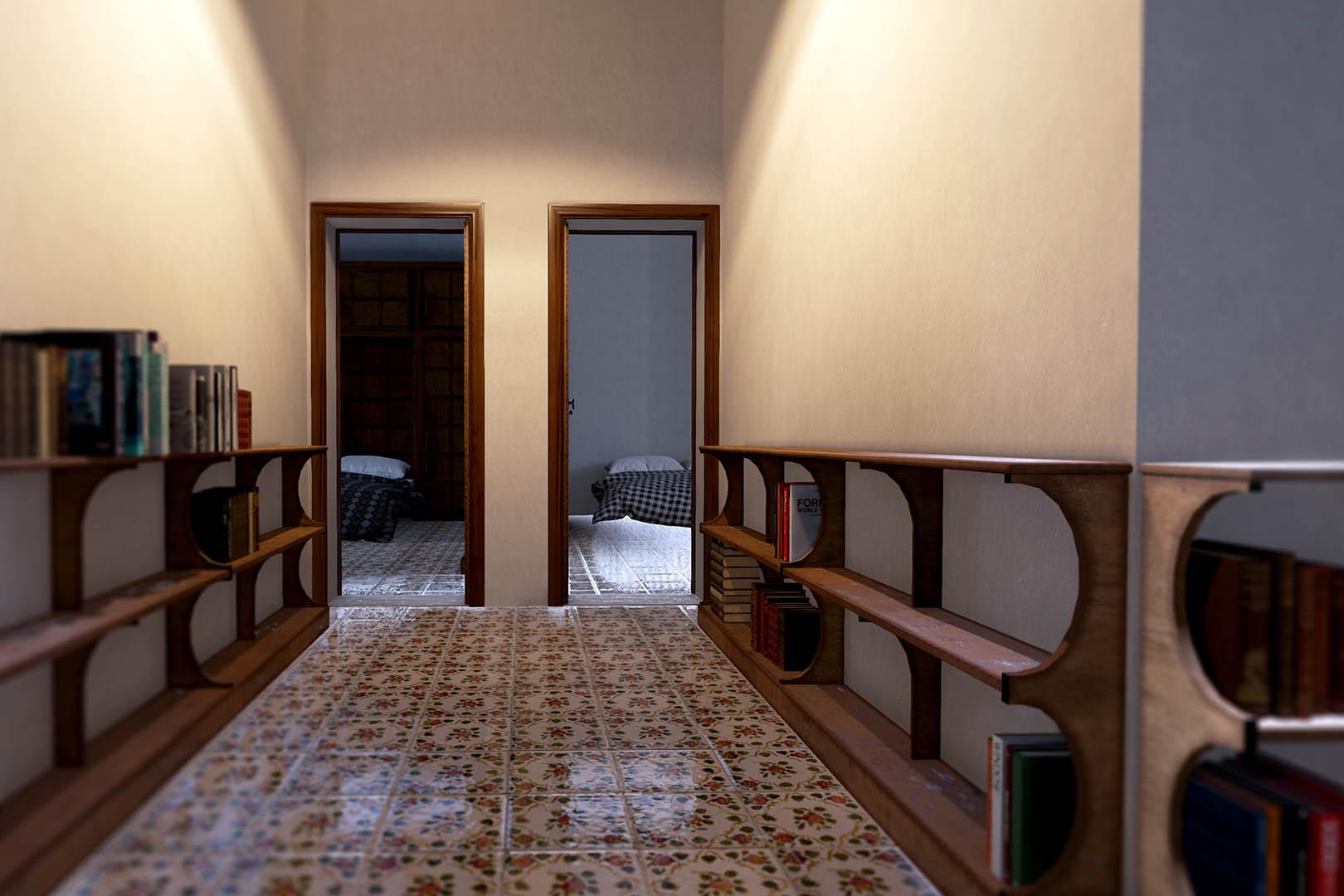 Adalberto libera curzio malaparte casa malaparte for Casa malaparte interni