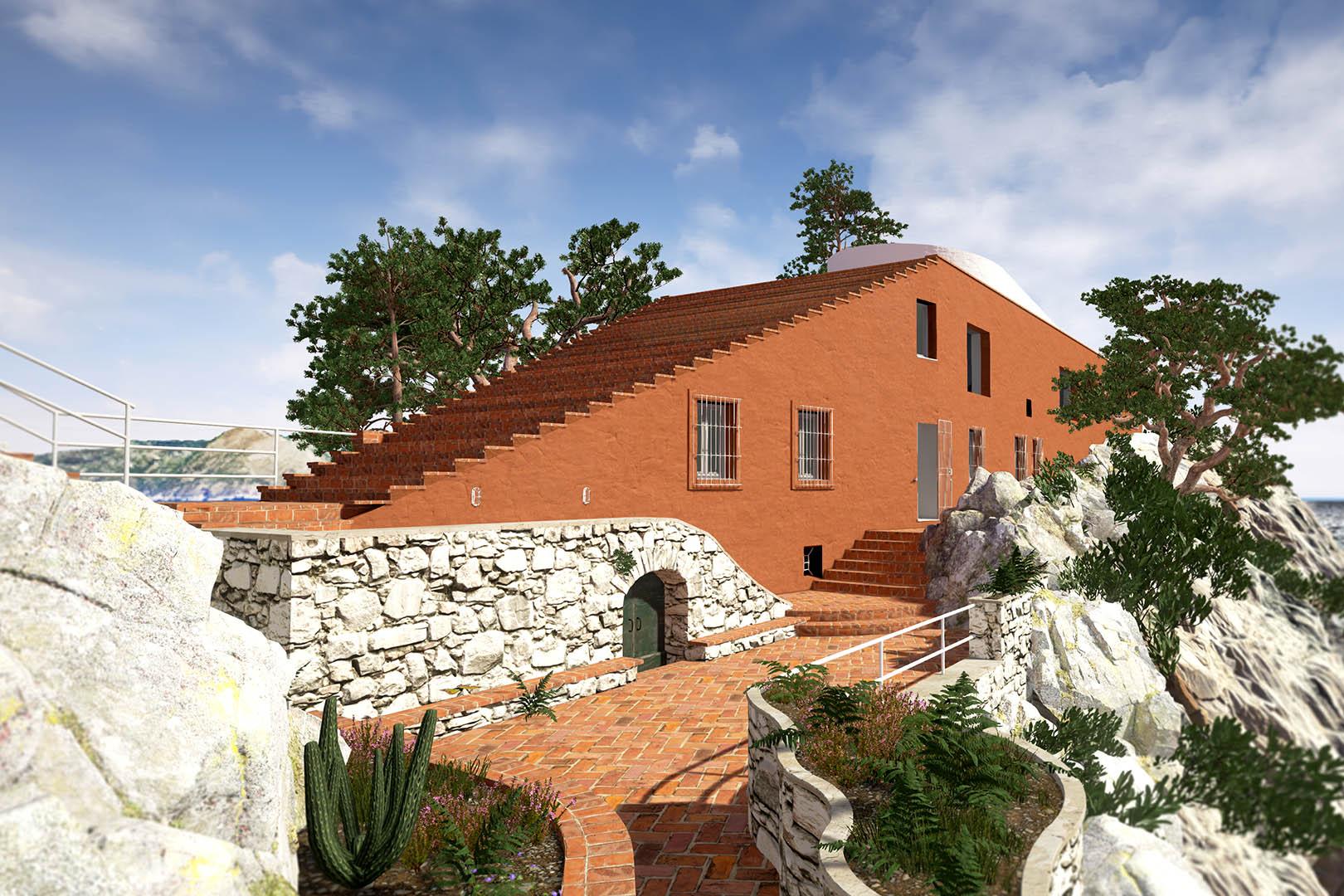 Adalberto libera curzio malaparte casa malaparte for Villa curzio malaparte